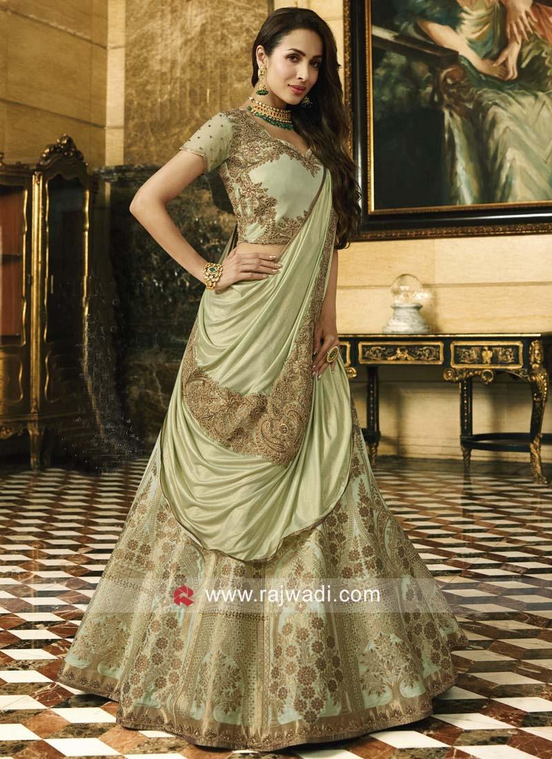 Silk and Brocade Malaika Arora Khan Lehenga