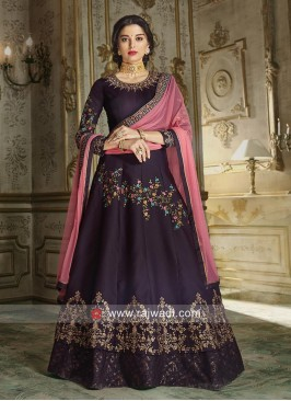Giselli Monteiro Silk and Georgette Anarkali Suit