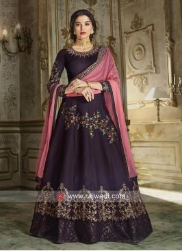 Giselli Monteiro Silk and Georgette Eid Anarkali Suit
