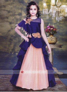 Silk and Net Designer Gown for Kids