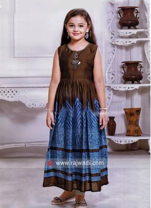 Silk Designer Floor Length Dress