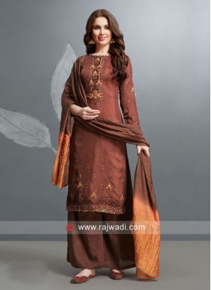 Silk Designer Palazzo Salwar Kameez