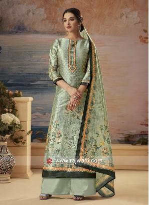 Silk Designer Palazzo Suit