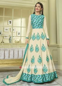 Silk Designer Semi Stitched Salwar Suit