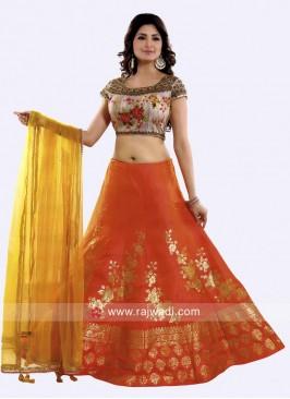 Silk Designer Weaving Lehenga Set