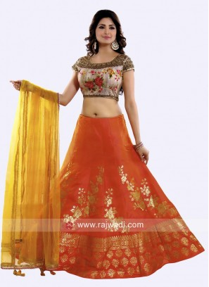 Silk Designer Weaving Lehenga Set
