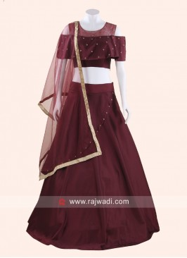 Silk Diamond Work Lehenga Choli