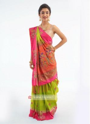 Silk Dual Shade Saree