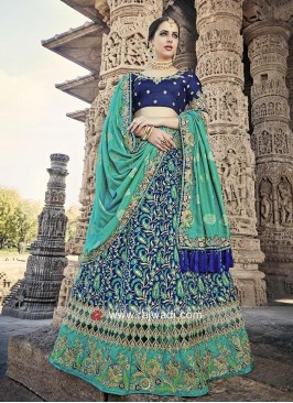 Silk Embellished Lehenga Set