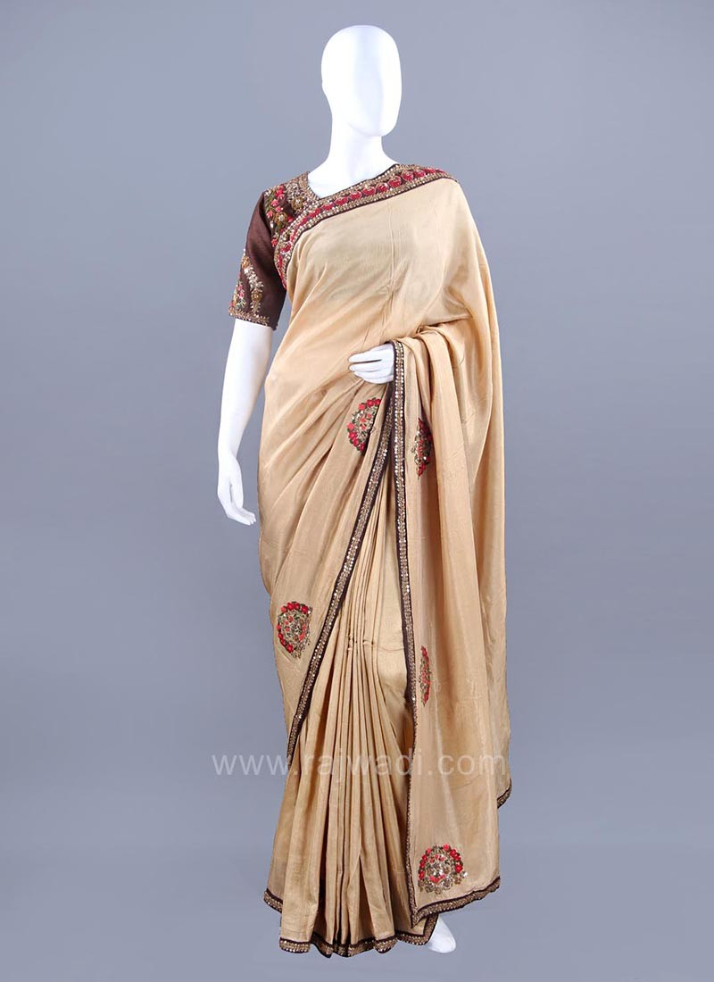 Silk embellished Sari with Stitched Choli