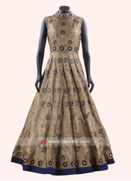 Silk Embroidered Anarkali Gown