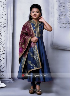 Silk Embroidered Anarkali Salwar Kameez