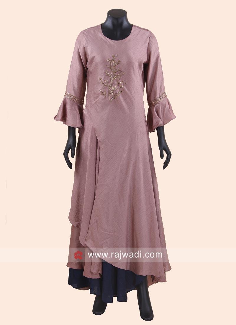 Silk Embroidered Layered Tunic