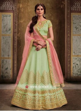 Silk Embroidered Lehenga