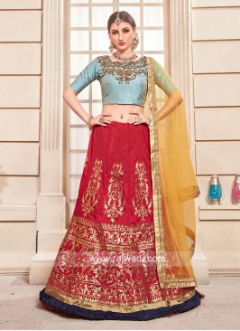 Designer Silk Embroidered Lehenga Choli