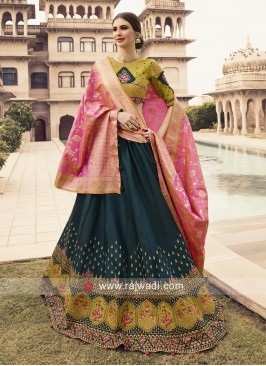 Silk Lehenga Choli with Banarasi Dupatta