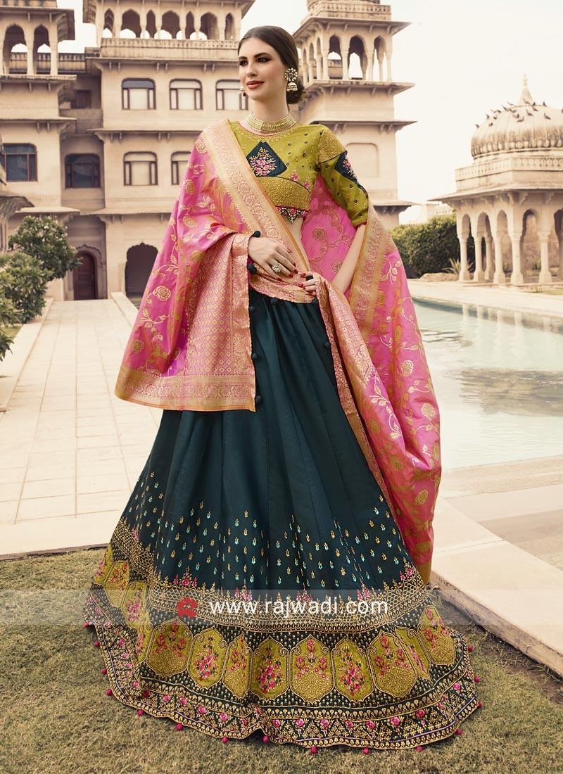 Silk Lehenga Choli with Banarasi Dupatta