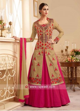 Silk Embroidered Lehenga Salwar Kameez