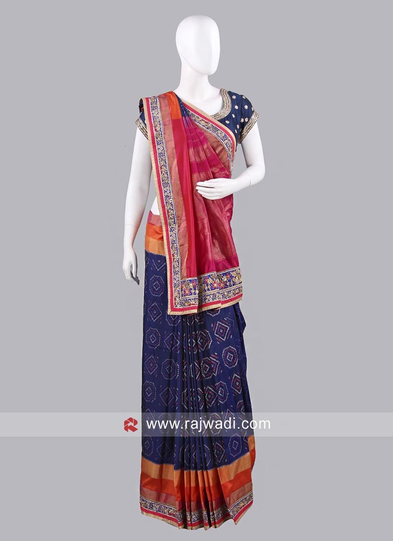 Silk Embroidered Patola Saree