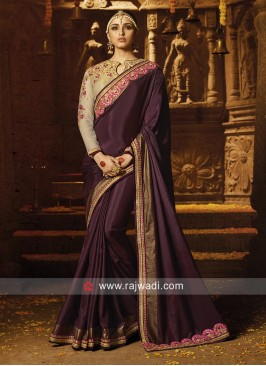 Silk Embroidered Saree