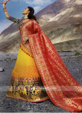 Silk Embroidered Wedding Lehenga Choli