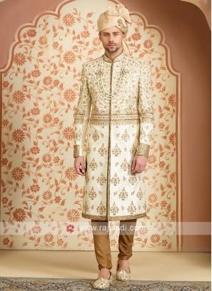 Silk embroidery sherwani