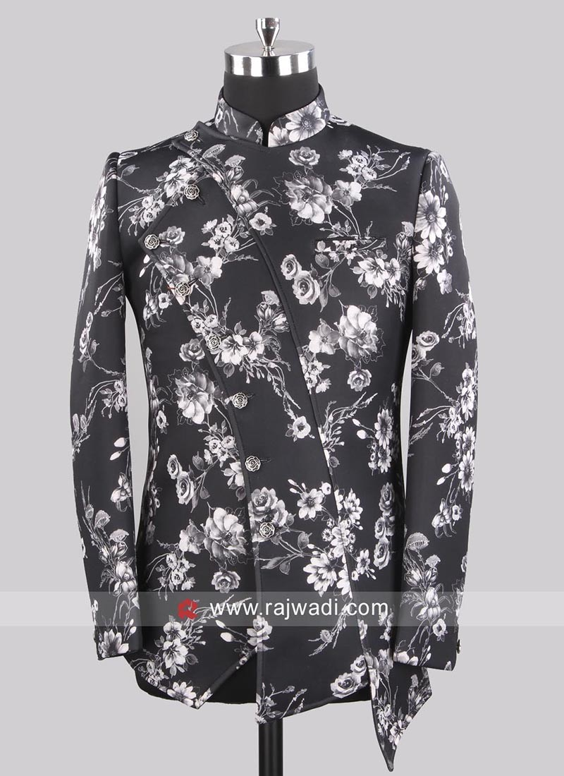 Silk Fabric Black Color Blazer