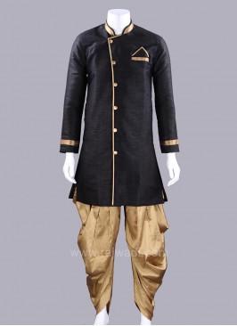 Silk Fabric Black Color Patiala Suit