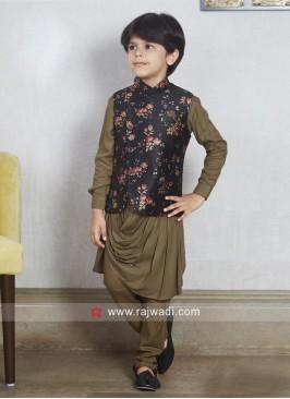 Stylish Cotton Silk Koti Set For Party