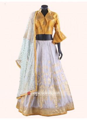 Silk Fabric Designer Chaniya Choli with Stylish Dupatta
