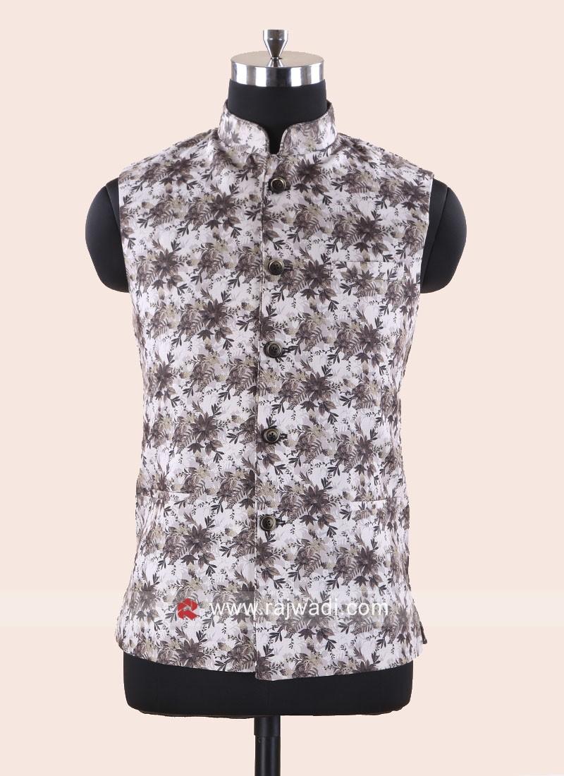 Silk Fabric Flower Print Koti
