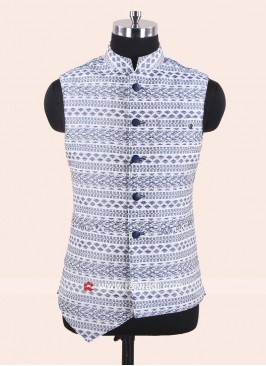 Silk Fabric Koti in White