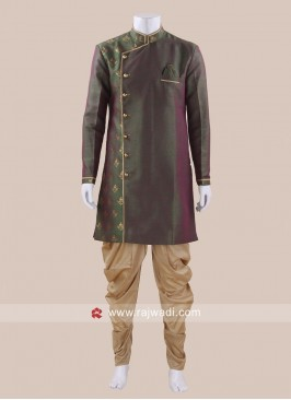 Silk Fabric Mens Patiala Set
