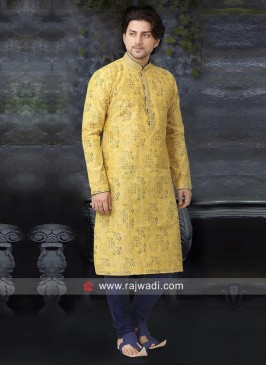 Beautiful Yellow Kurta Pajama