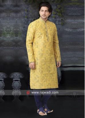 Beautiful Yellow Kurta Pajama