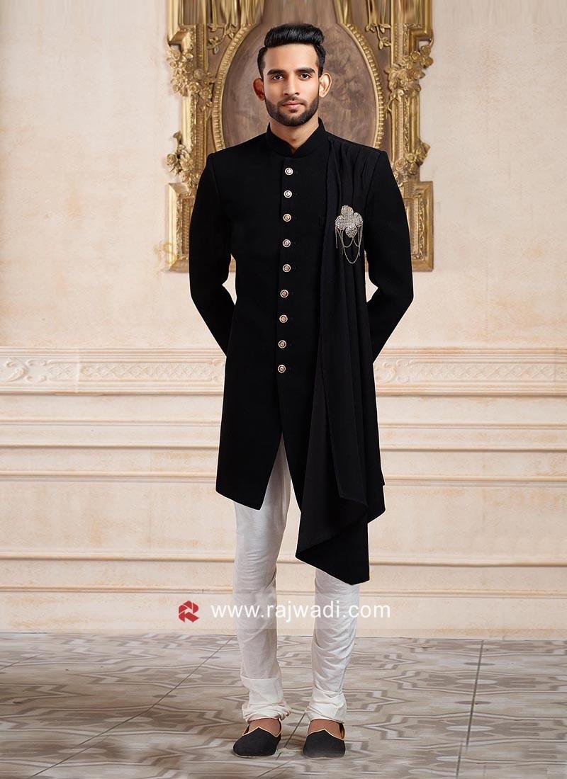 Marvelous Black Indo Western For Wedding