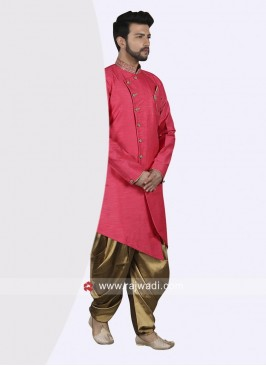 Attractive Deep Pink Indo Western