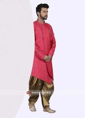 Attractive Deep Pink Indo Western