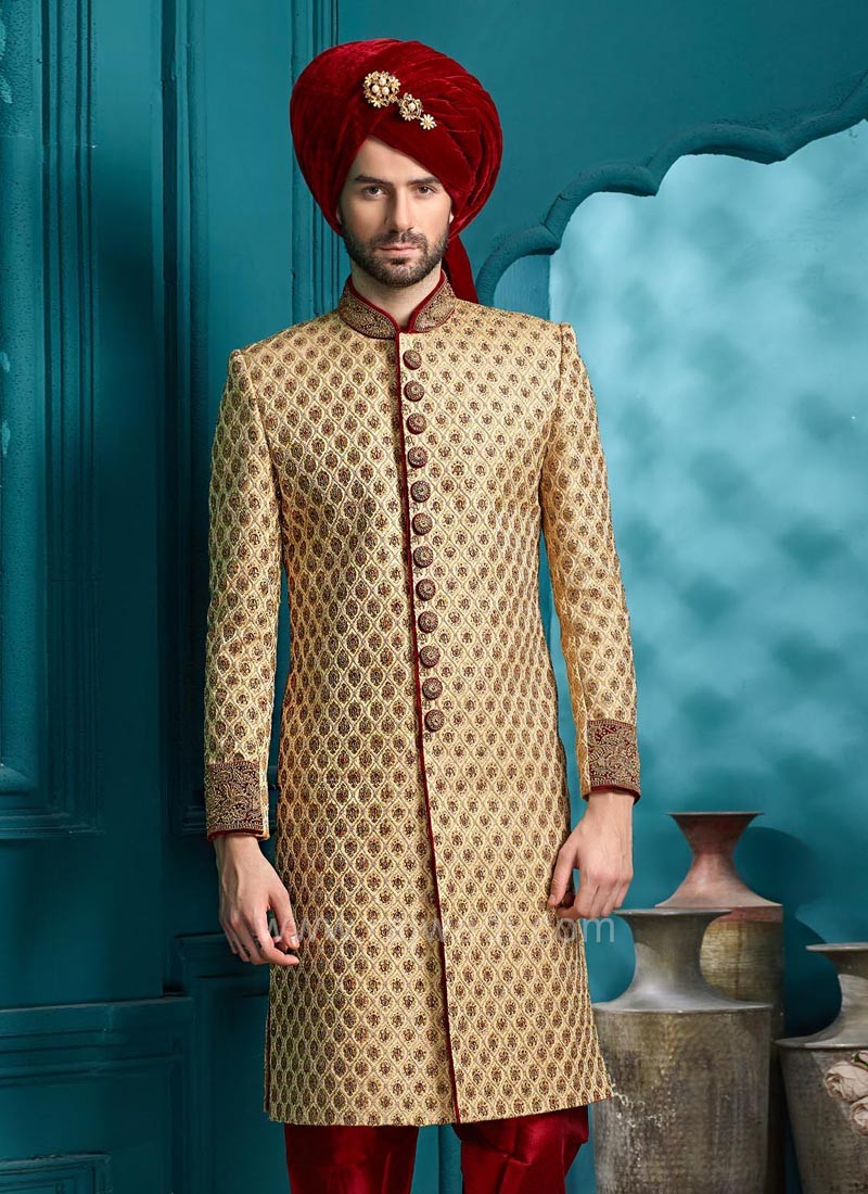 Silk Fabric Sherwani