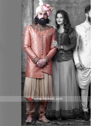 Groom Anarkali Style Indo Western