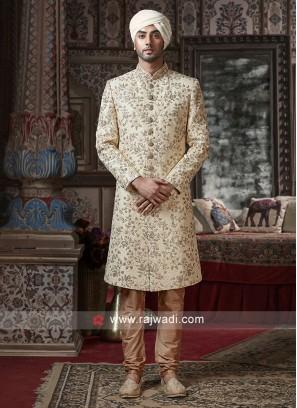 Silk Fabric Sherwani For Wedding