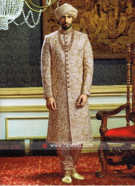 Silk Fabric Sherwani For Wedding