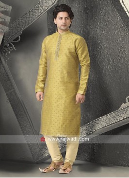 Brocade Silk Fabric Stylish Kurta Pajama