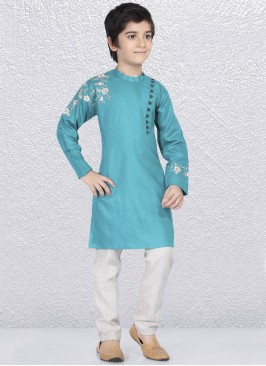 Attractive Aqua Color Kurta Pajama