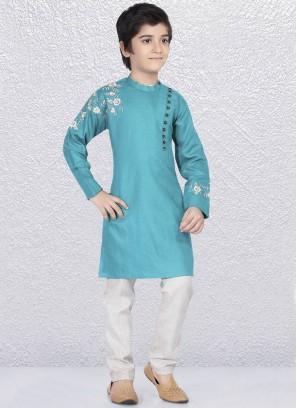 Attractive Aqua Color Kurta Pajama