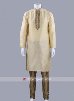 Silk Fabric Zari Work Kurta Pajama
