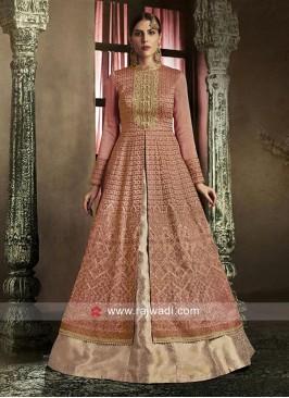 Silk Front Slit Lehenga Style Salwar Suit