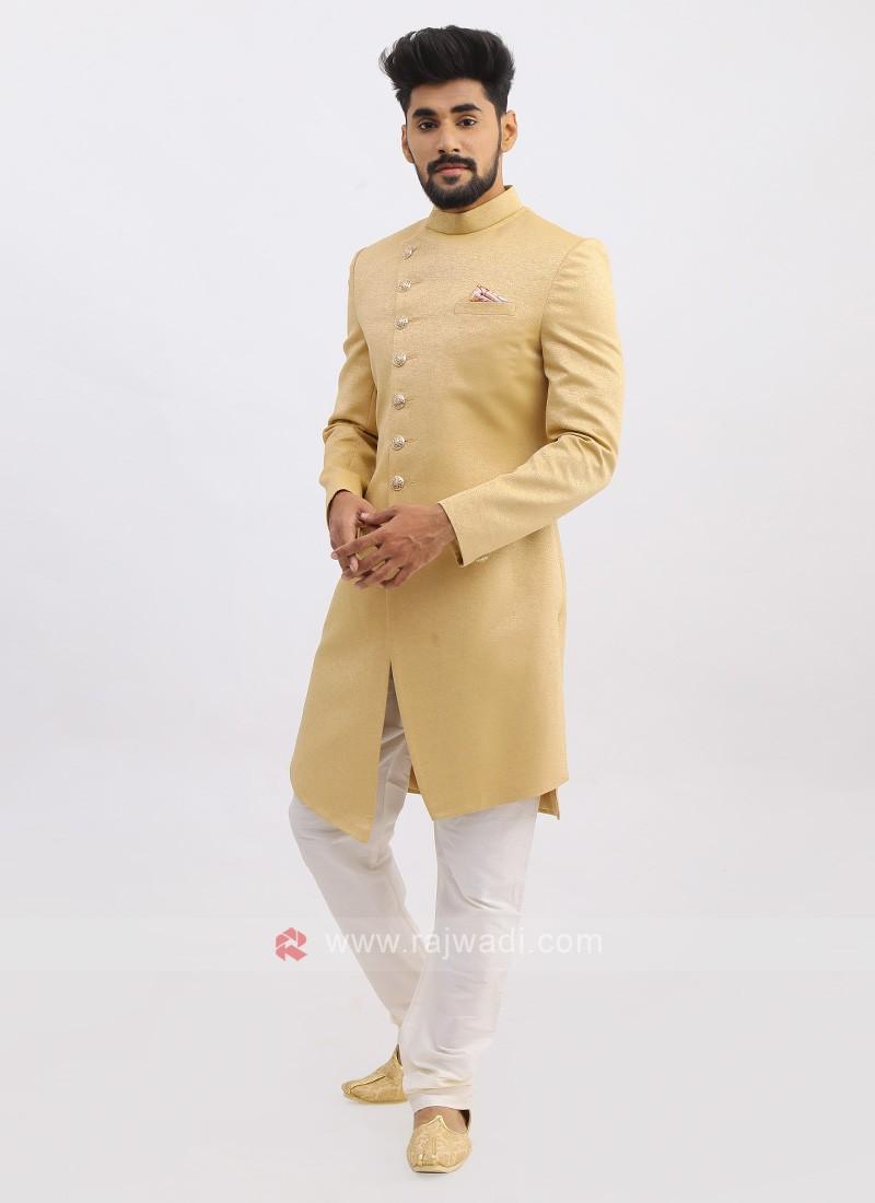 Silk Golden Color Indo Western