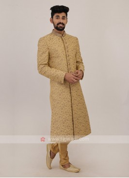 Silk Golden Sherwani