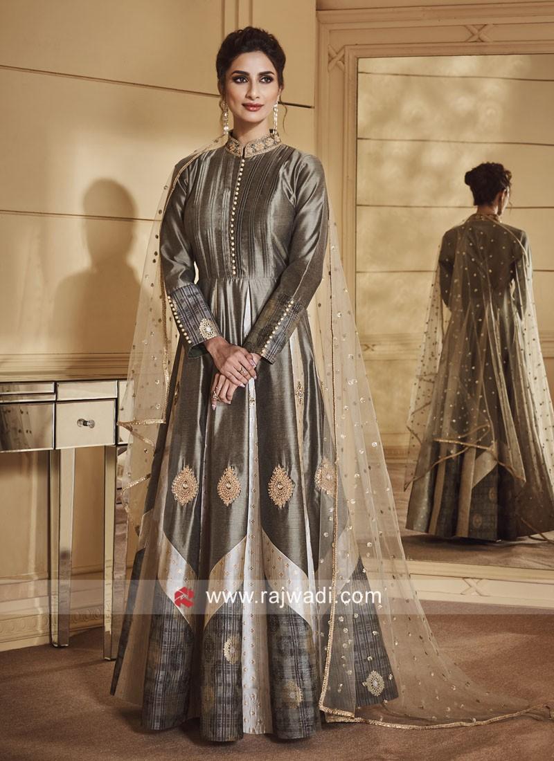 Silk Gown Style Salwar Kameez